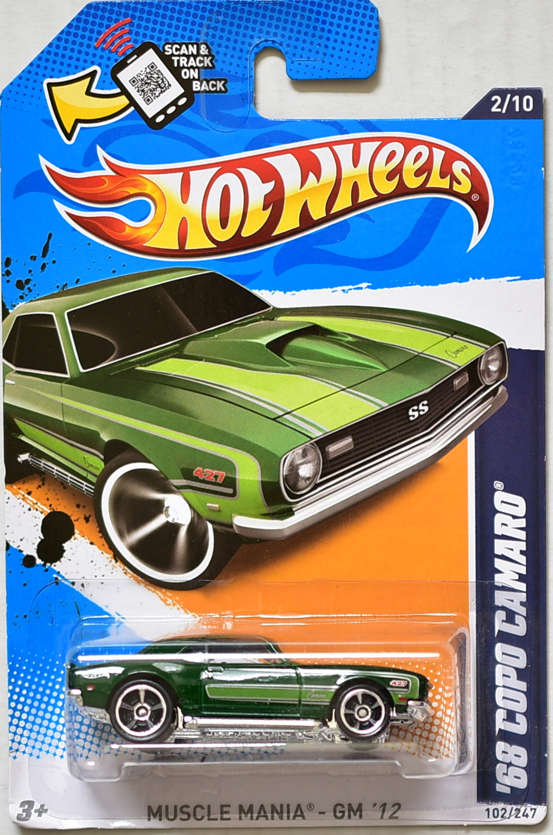Hw Various Classic Colections Hot Wheels Hotwheels 12 Camaro Zl1 Green 2012 Muscle Mania Gm 68 Copo