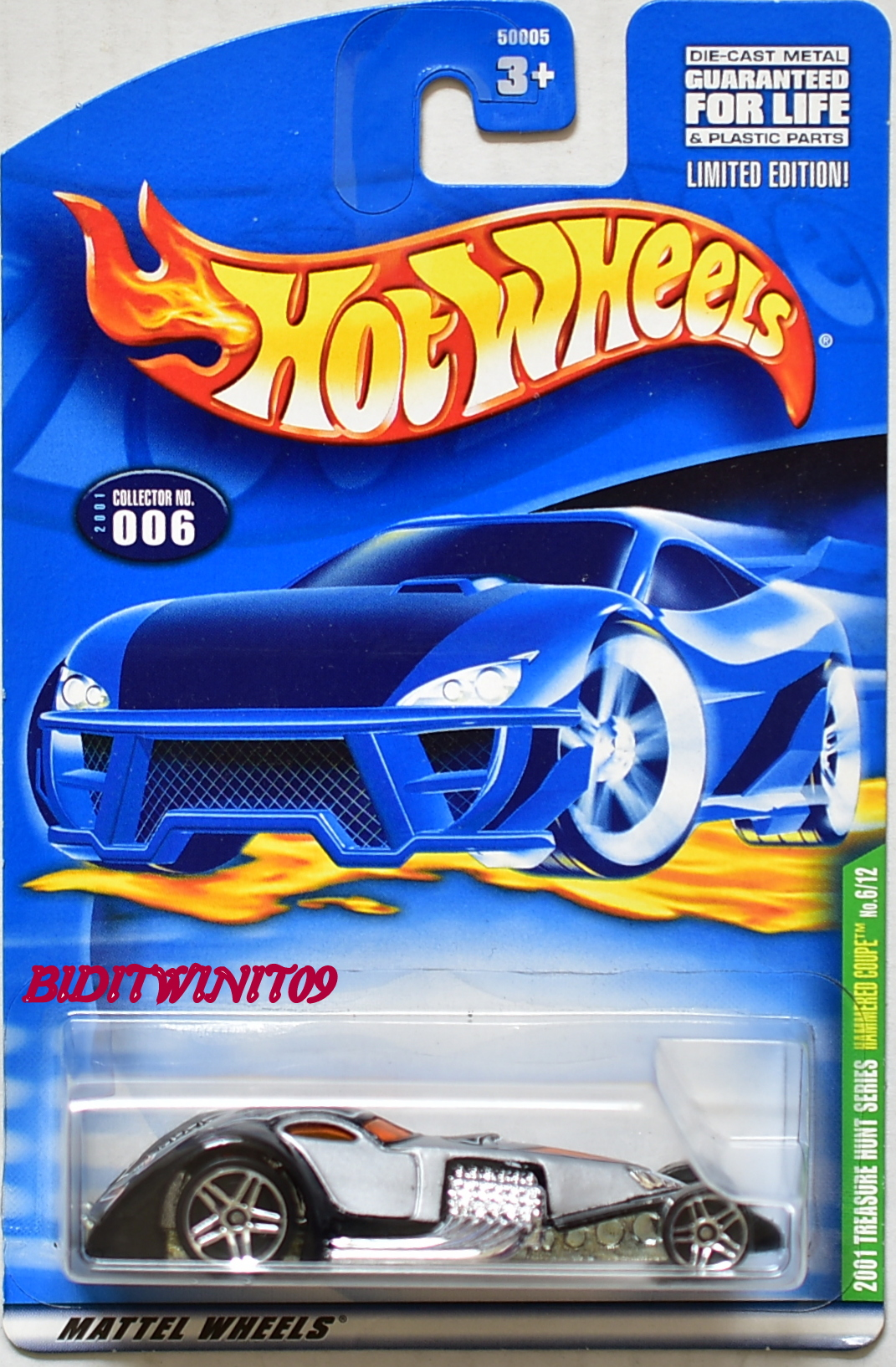 HOT WHEELS 2001 TREASURE HUNT 6/12 HAMMERED COUPE
