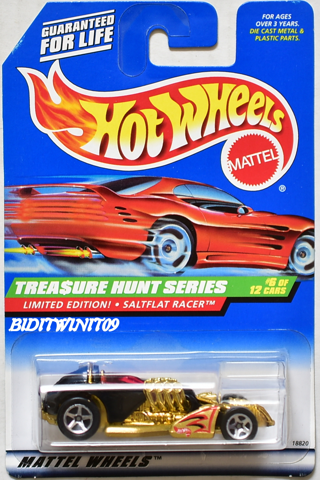 HOT WHEELS 1998 TREASURE HUNT SERIES LIMITED EDITION SALTFLAT RACER - Click Image to Close