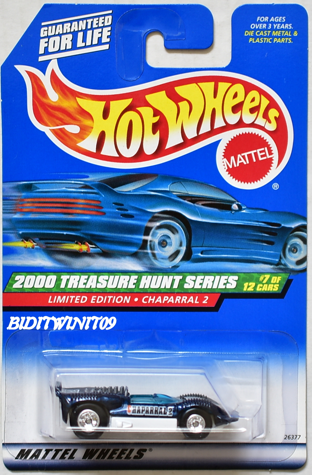HOT WHEELS 2000 TREASURE HUNT LIMITED EDITION CHAPARRAL 2