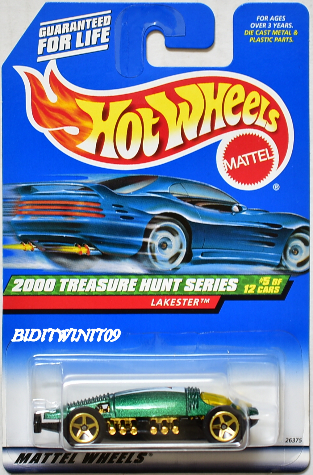 HOT WHEELS 2000 TREASURE HUNT SERIES LAKESTER #053 GREEN