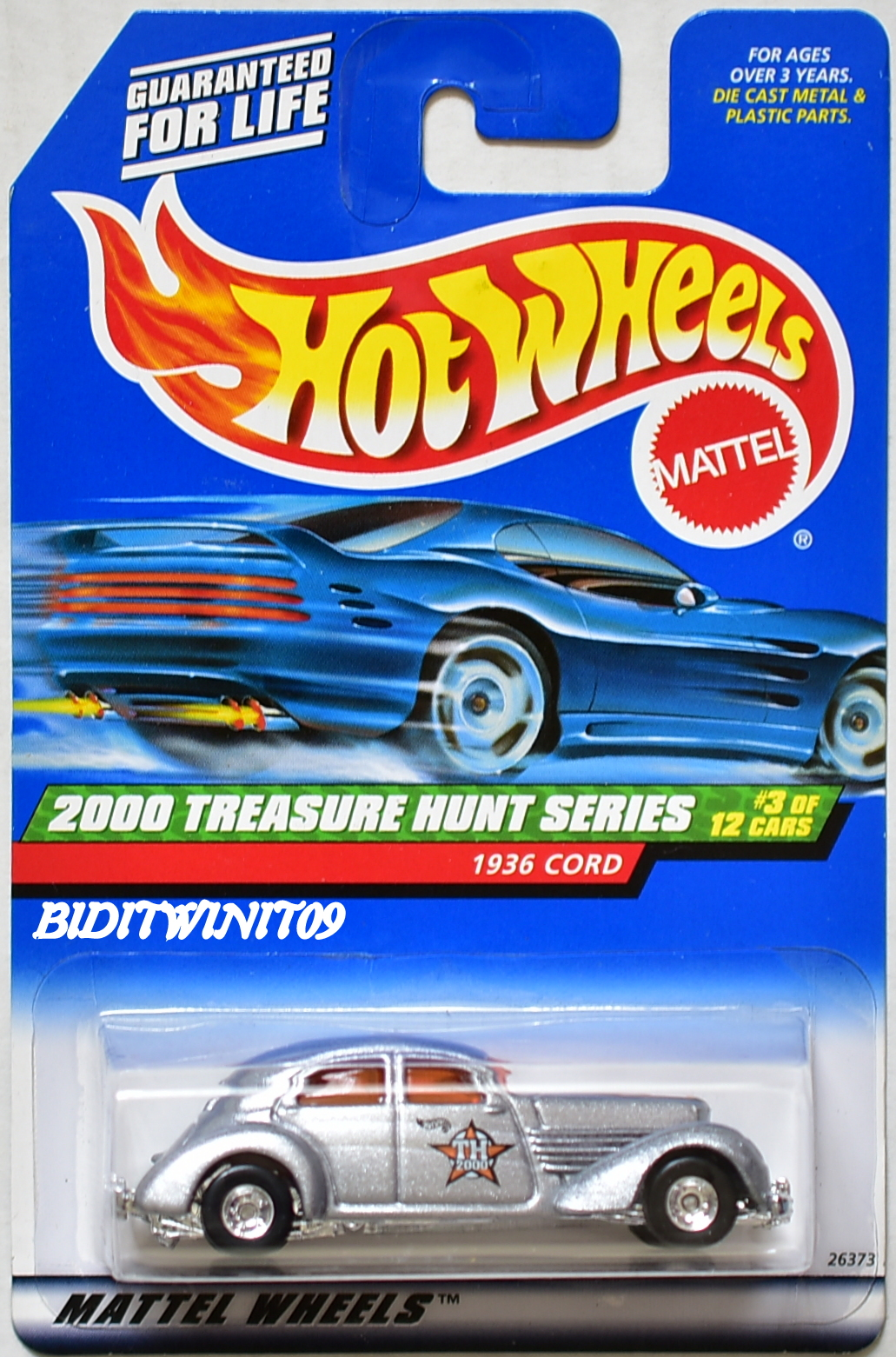 HOT WHEELS 2000 TTREASURE HUNT SERIES 3/12 1936 CORD