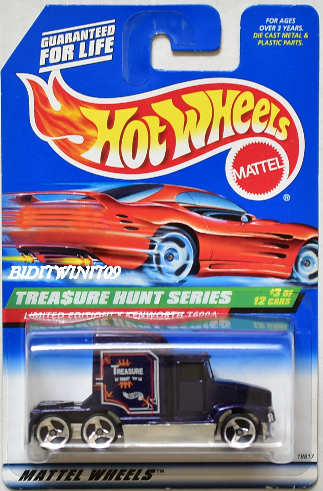 HOT WHEELS 1998 TREASURE HUNT SERIES KENWORTH T600A