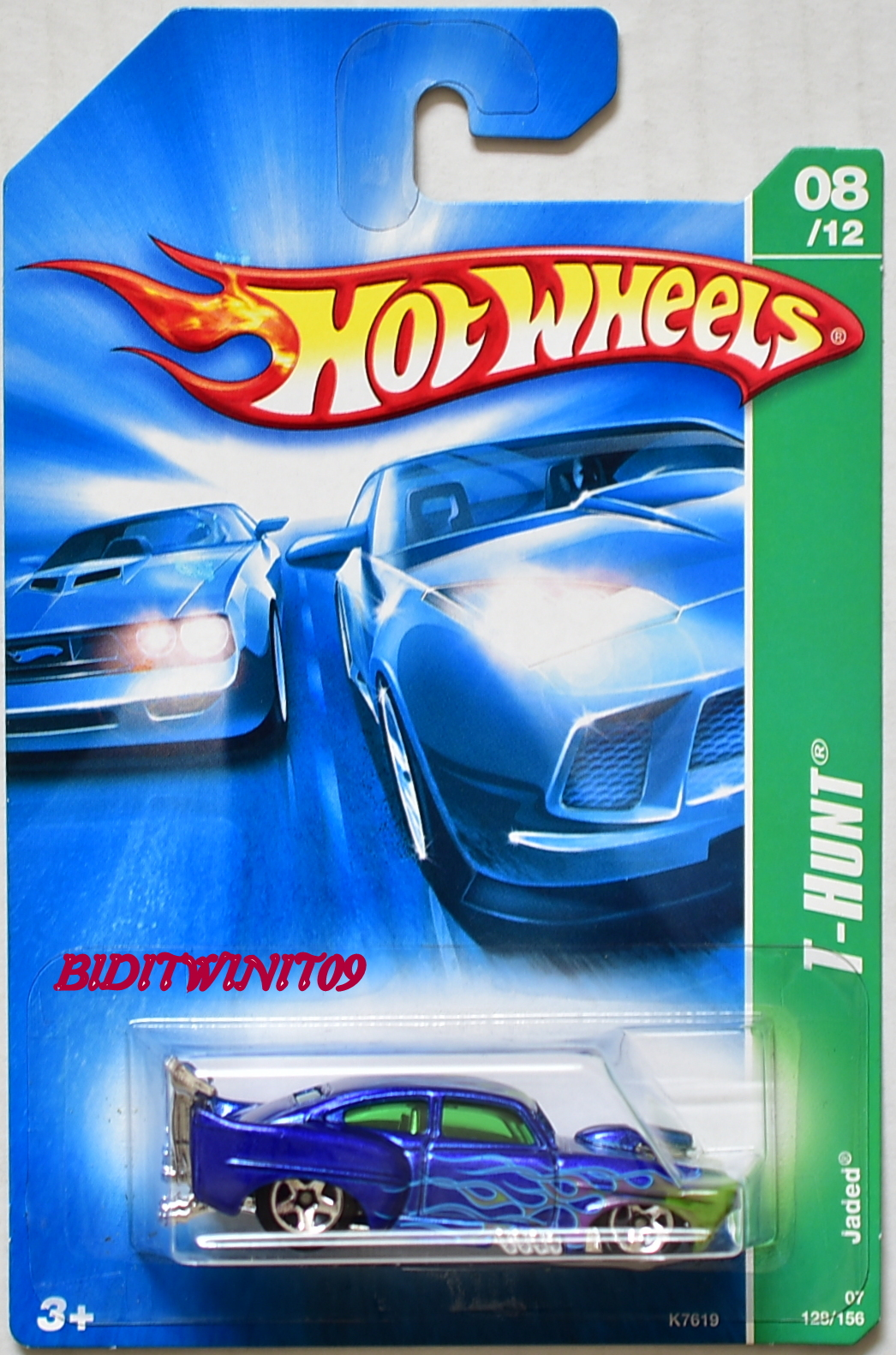 HOT WHEELS 2007 REGULAR TREASURE HUNT JADED #08/12 E+