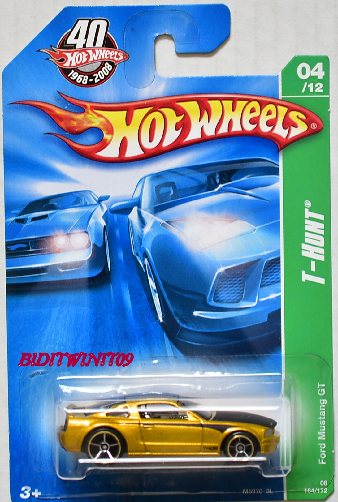 HOT WHEELS 2008 TREASURE HUNT FORD MUSTANG GT GOLD E+