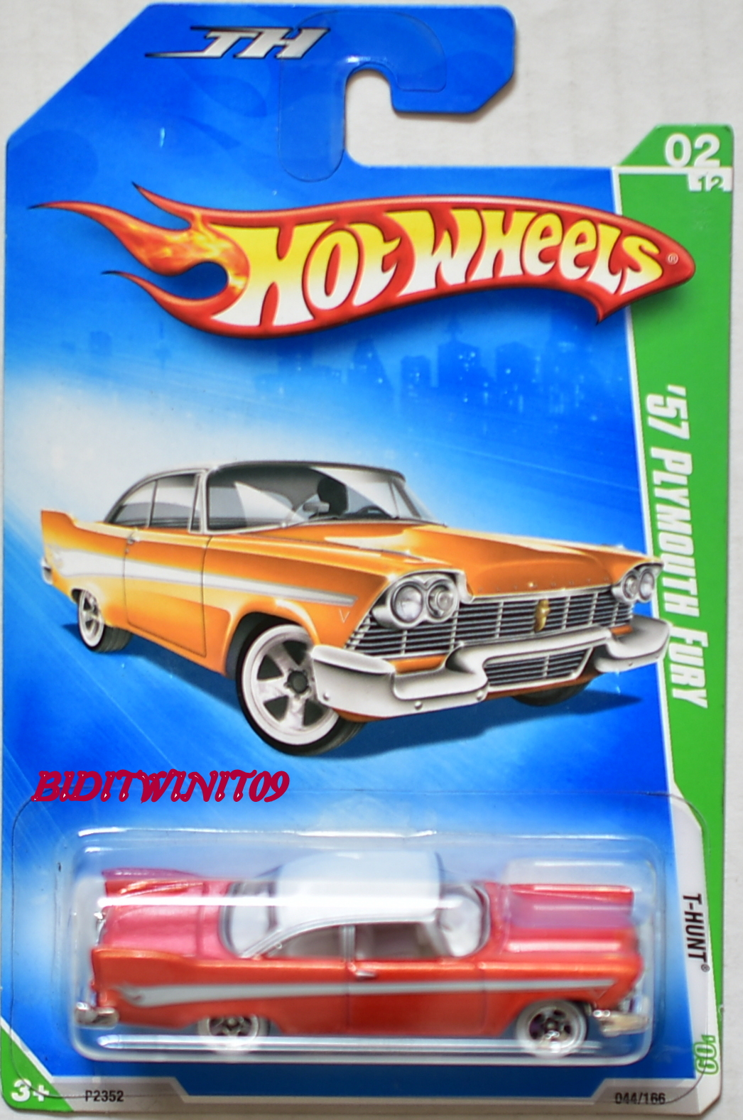 HOT WHEELS 2009 TREASURE HUNT '57 PLYMOUTH FURY REG.
