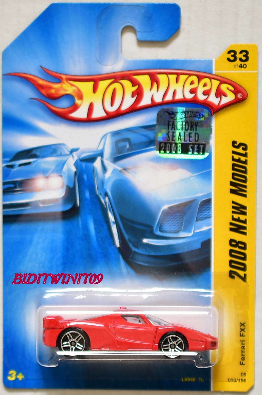HOT WHEELS 2008 NEW MODELS FERRARI FXX #33/40 RED FACTORY SEALED