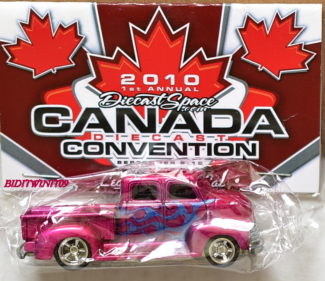 HOT WHEELS 2010 DIECAST SPACE CANADA CONVENTION PICKUP TRUCK E+