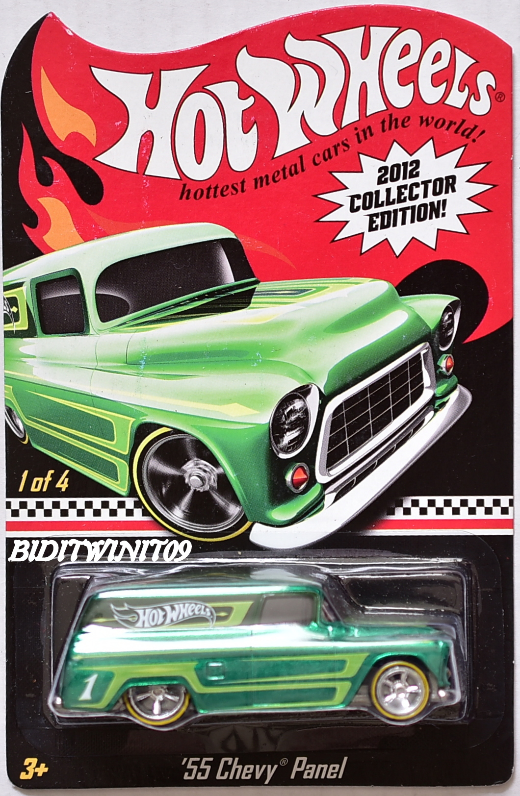 HOT WHEELS 2012 COLLECTOR EDITION '55 CHEVY PANEL #1/4 E+