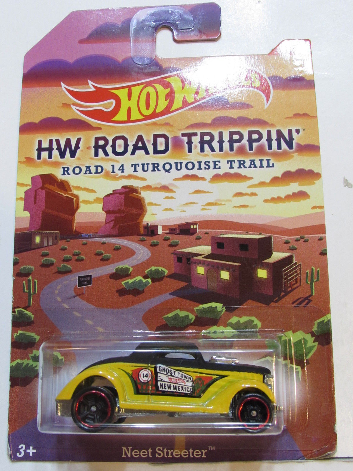 HOT WHEELS HW ROAD TRIPPIN' ROAD 14 TURQUOISE TRAIL NEET STREETER