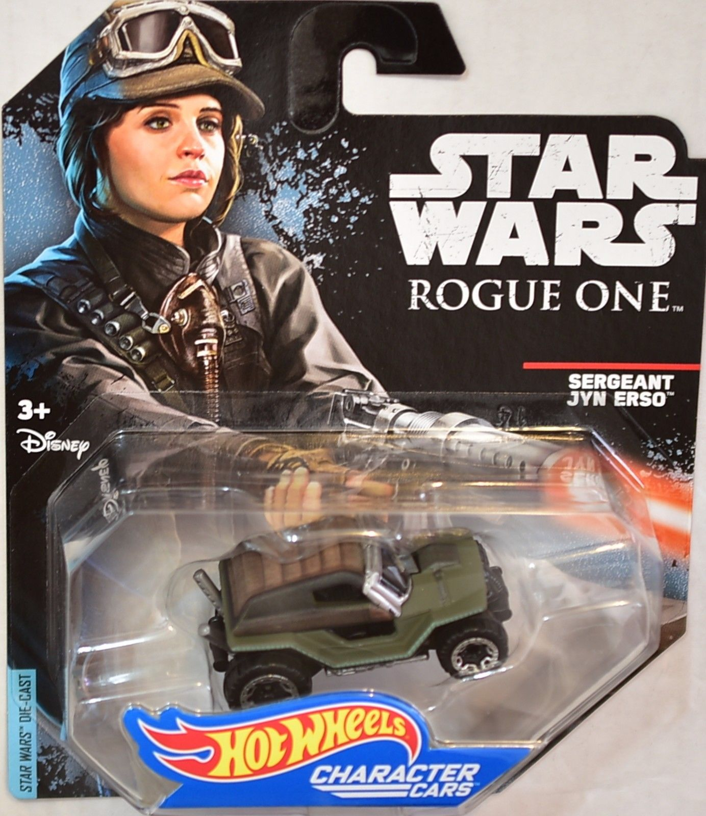 STAR WARS 2014 HOT WHEELS - ROGUE ONE SERGEANT JYN ERSO CHARACTER CARS