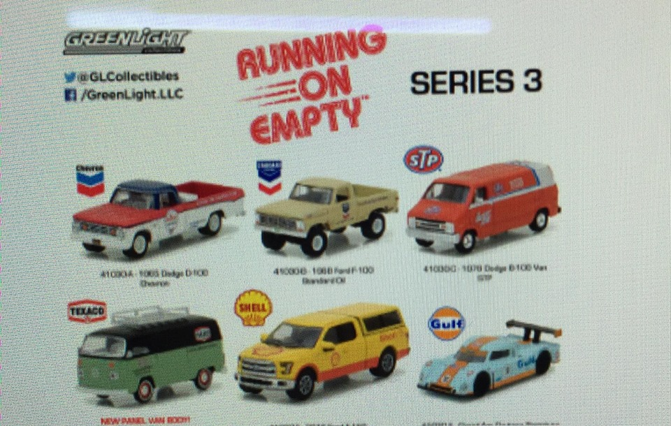GREENLIGHT RUNNING ON EMPTY SERIES 3 SET OF 6 (PRE-ORDER)
