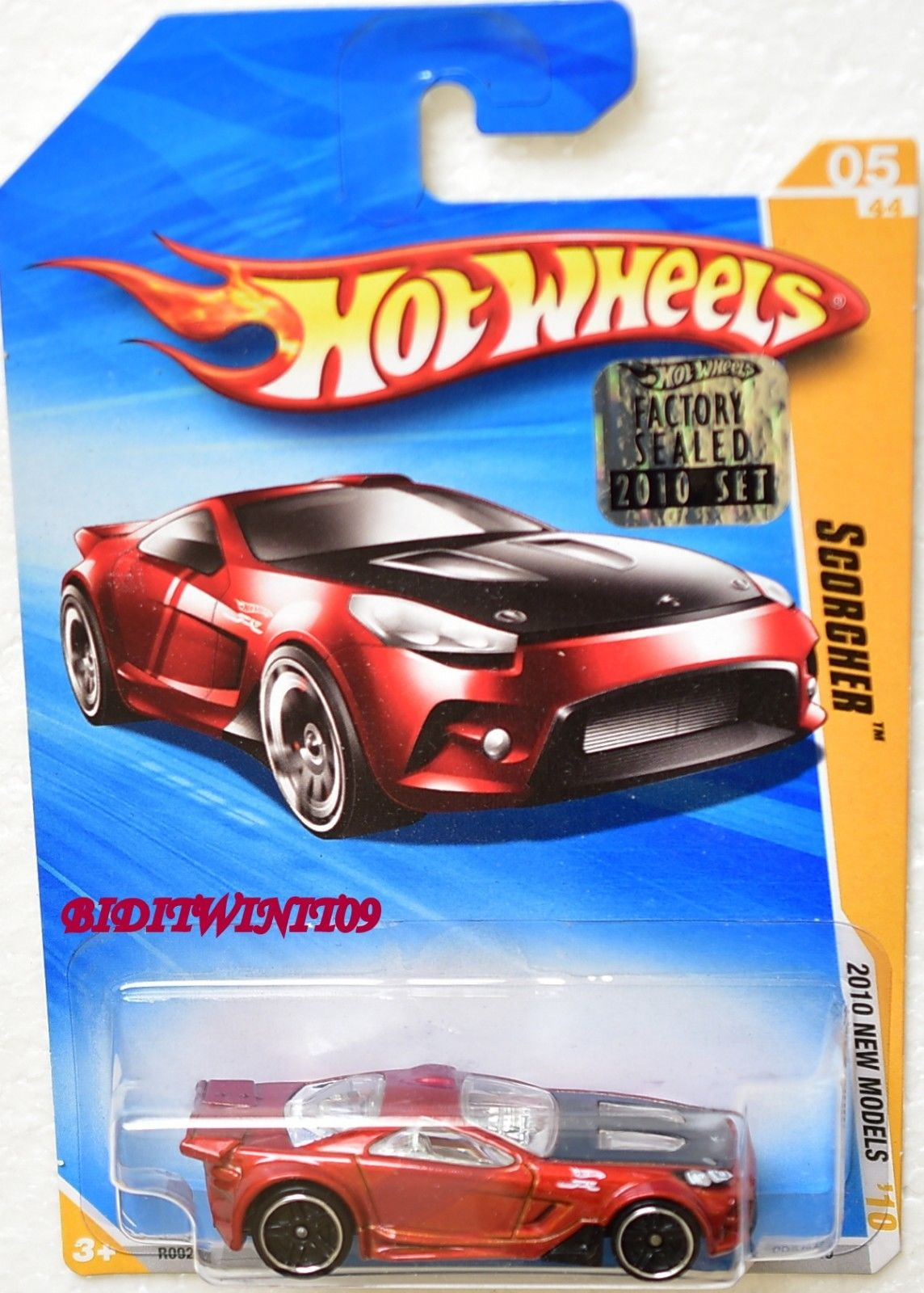 HOT WHEELS 2010 NEW MODELS SCORCHER #05/44 RED FACTORY SEALED