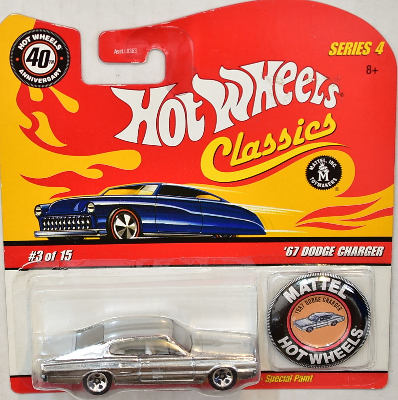 HOT WHEELS CLASSICS SERIES 4 #3/15 '67 DODGE CHARGER CHROME