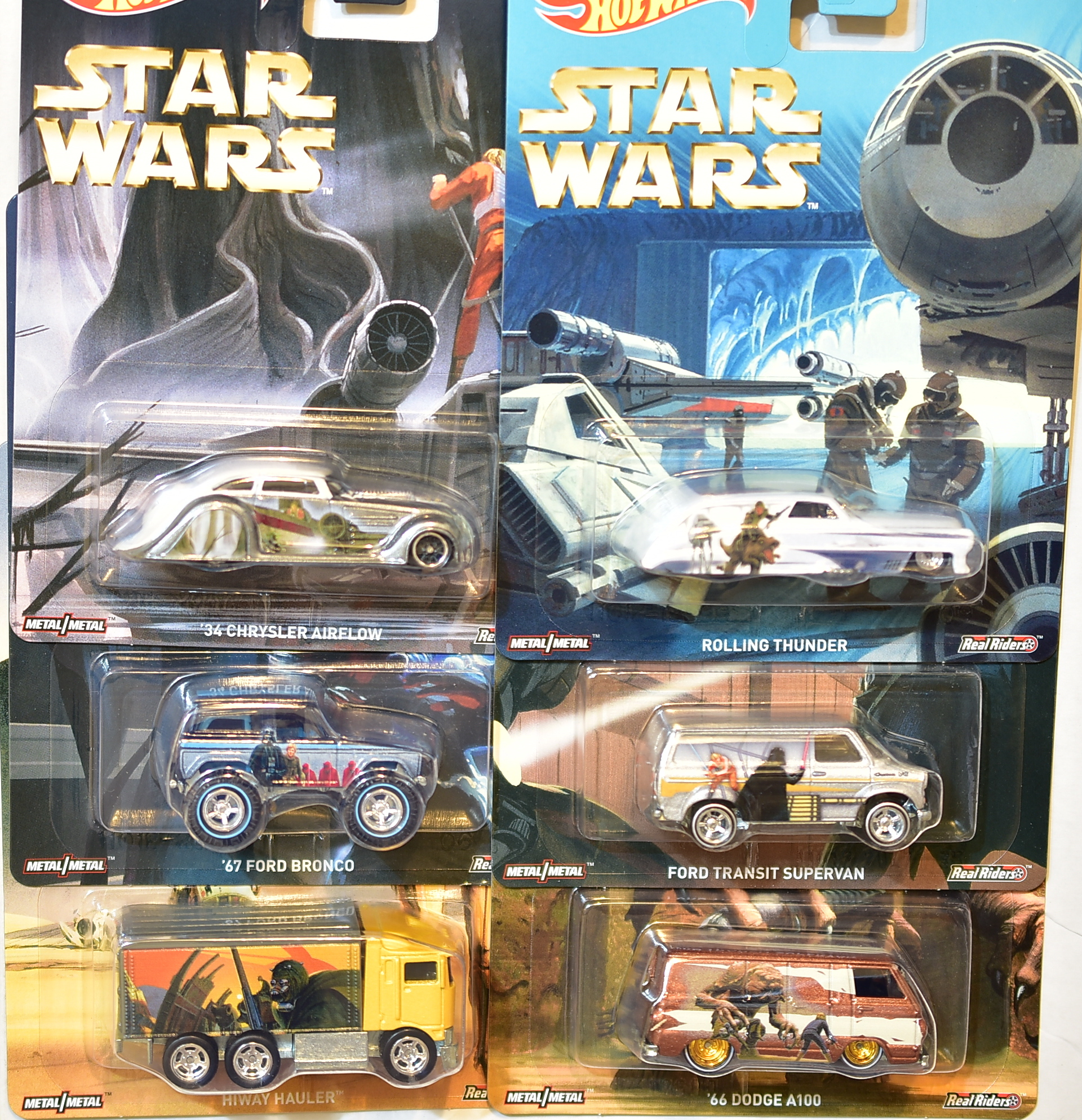 HOT-WHEELS-POP-CULTURE-STAR-WARS-SET-OF-6-66-DODGE-HAULER-SUPER-VAN