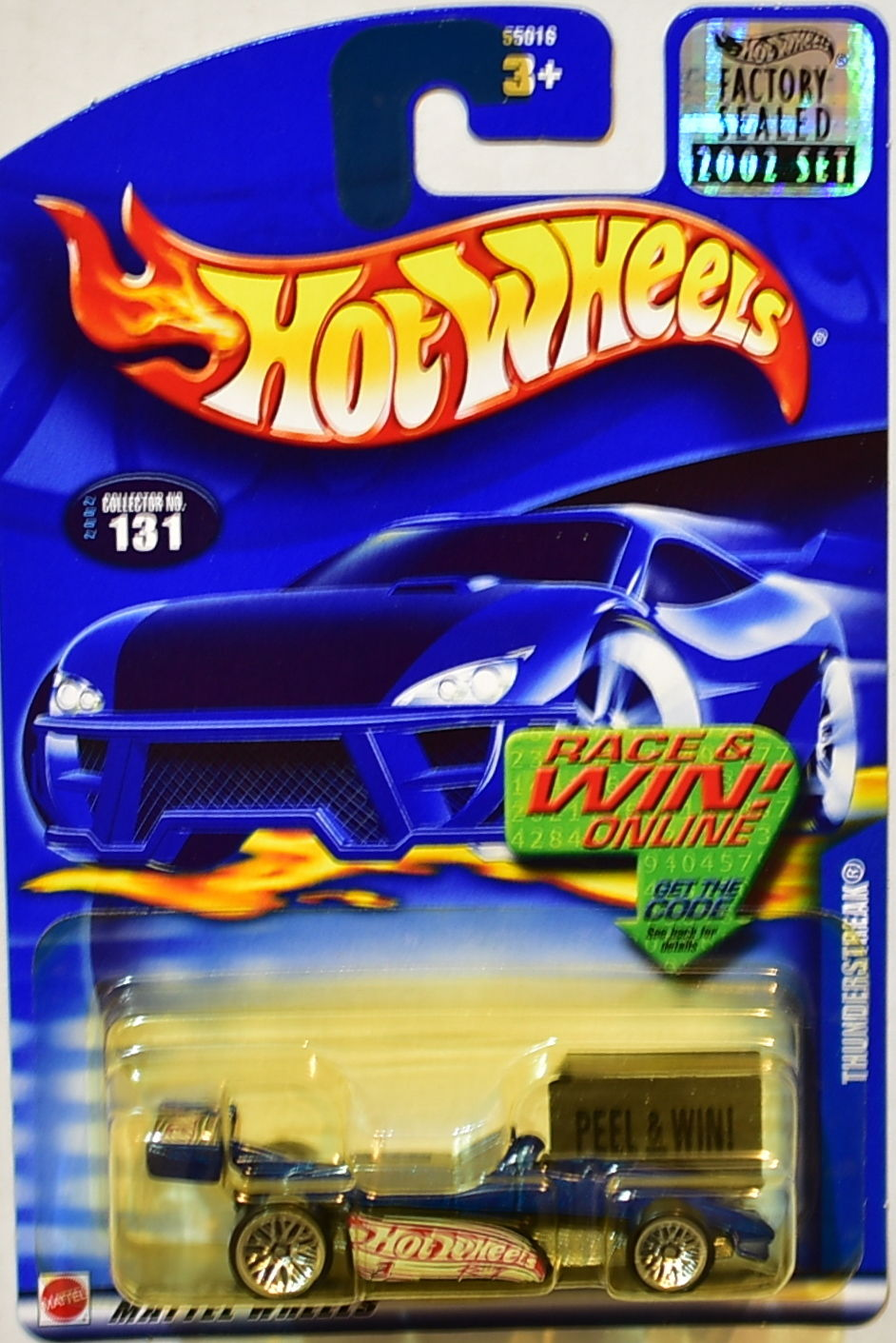 HOT WHEELS 2002 THUNDERSTREAK #131 BLUE FACTORY SEALED