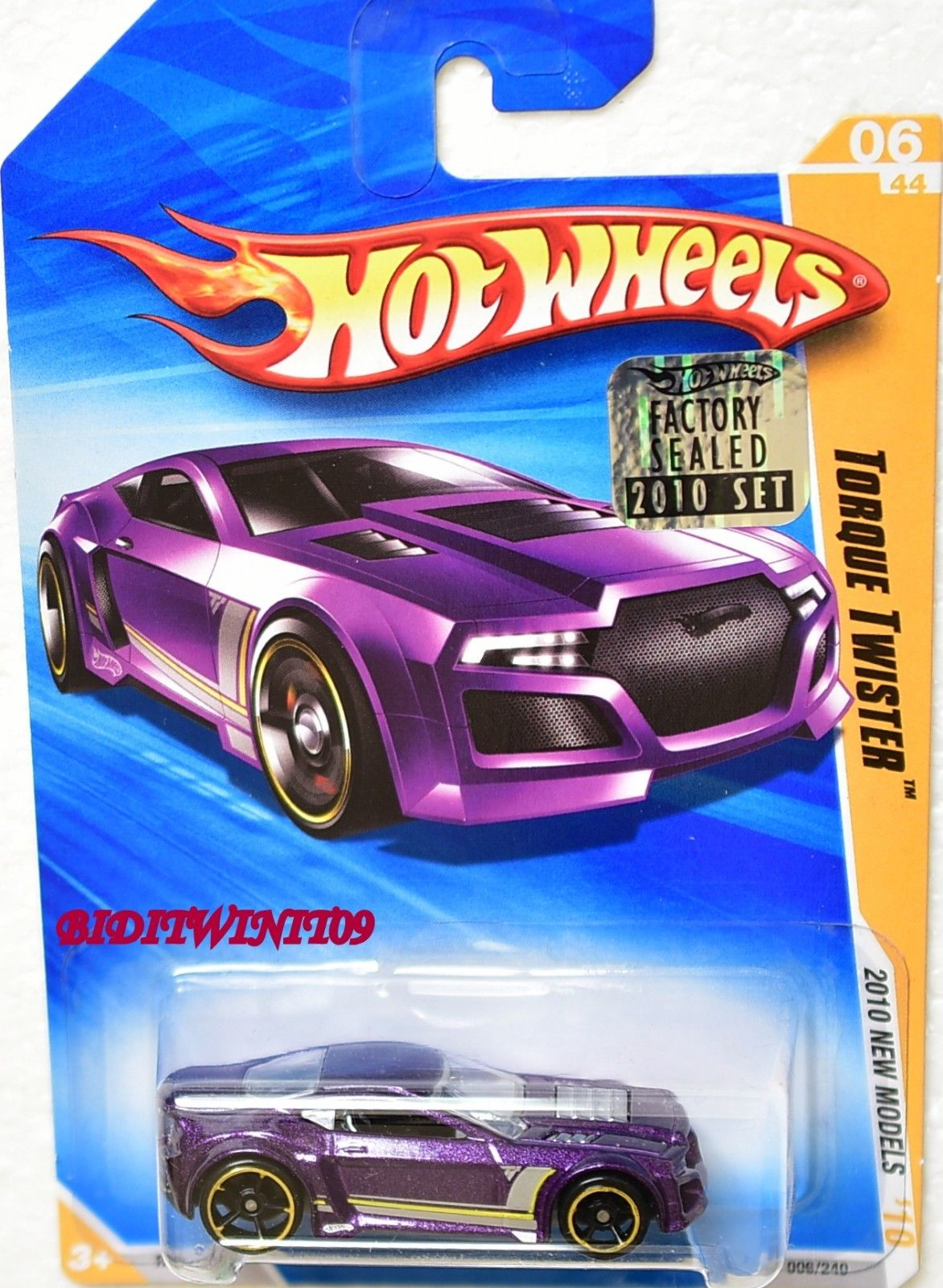 HOT WHEELS 2010 NEW MODELS TORQUE TWISTER #06/44 PURPLE FACTORY SEALED