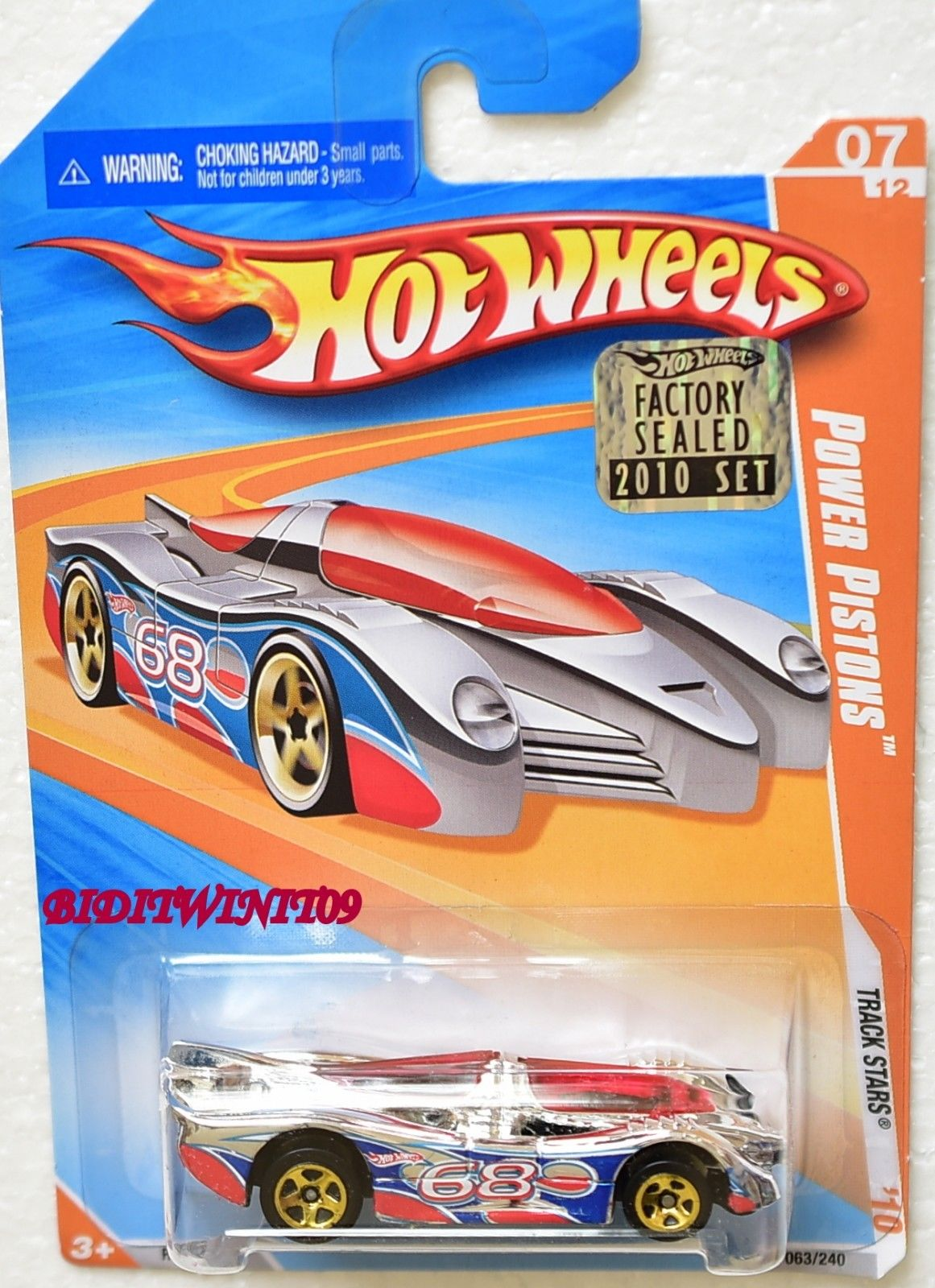 HOT WHEELS 2010 TRACK STARS POWER PISTONS #07/12 FACTORY SEALED