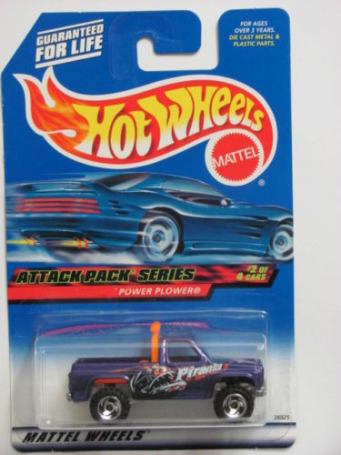 HOT WHEELS 2000 ATTACK PACK SERIES POWER PLOWER #022 PURPLE