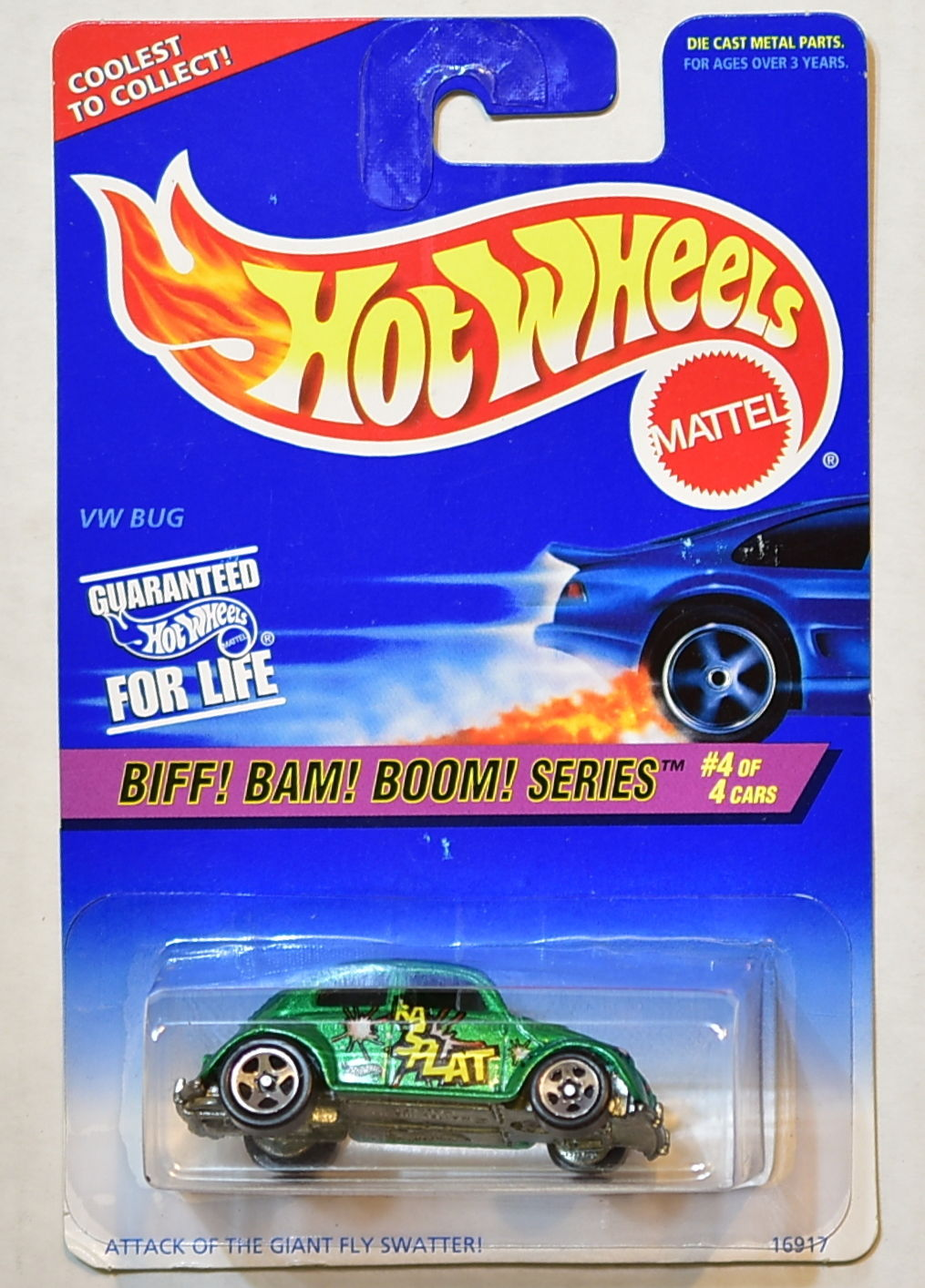 HOT WHEELS 1996 BIFF! BAM! BOOM! SERIES VW BUG GREEN