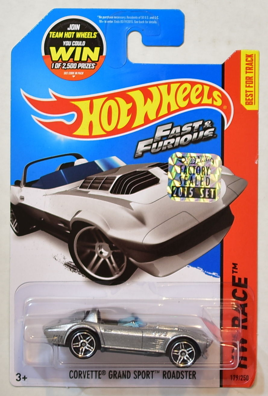 HOT WHEELS 2015 HW RACE CORVETTE GRAND SPORT ROADSTER FACTORY SEALED