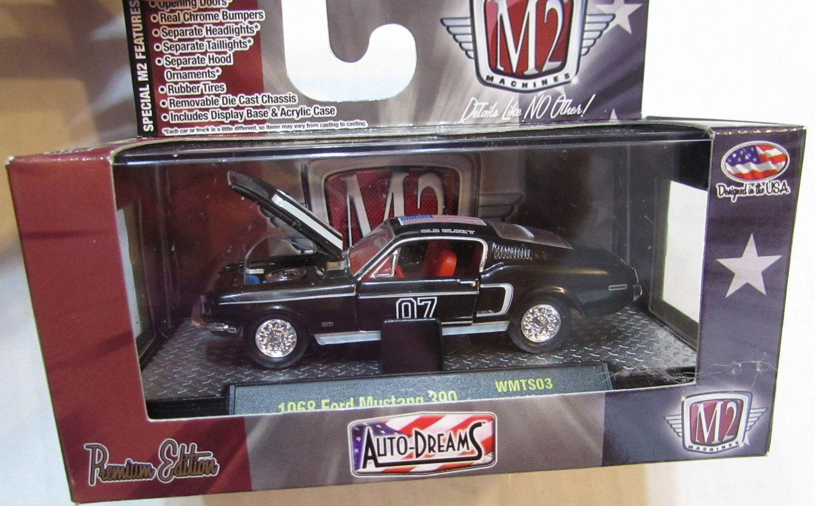 M2 MACHINES 2016 WAL MART PATRIOT 1968 FORD MUSTANG 390