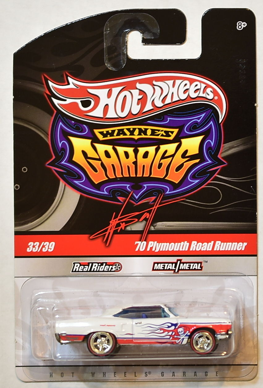 HOT WHEELS WAYNE'S GARAGE #33/39 '70 PLYMOUTH ROAD RUNNER WHITE