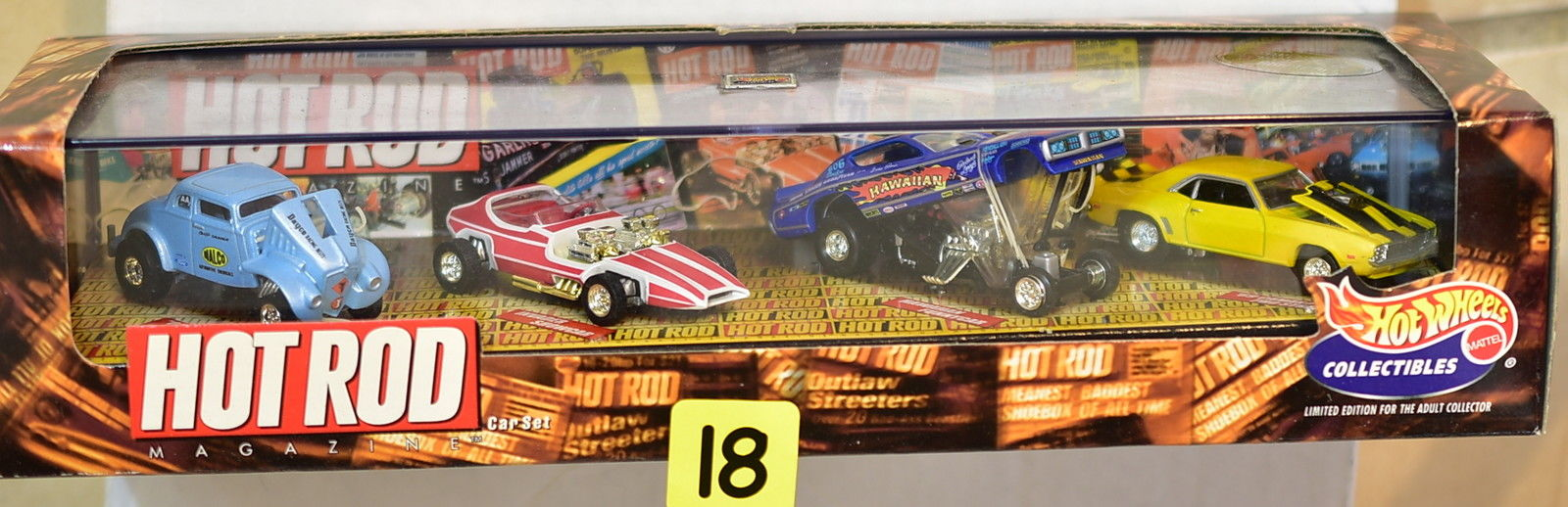 HOT WHEELS COLLECTIBLES HOT ROD '33 WILLYS FUNNYCAR PRO STREET 4 CAR PACK
