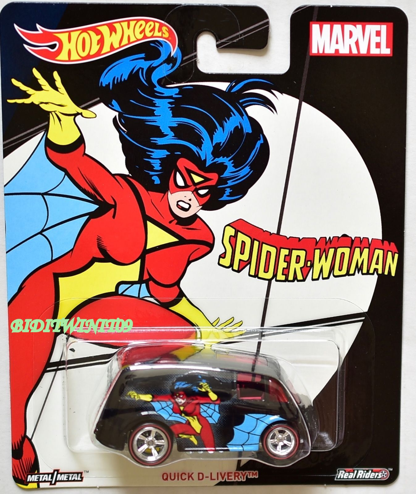 HOT WHEELS POP CULTURE 2017 MARVEL QUICK D-LIVERY SPIDER-WOMAN