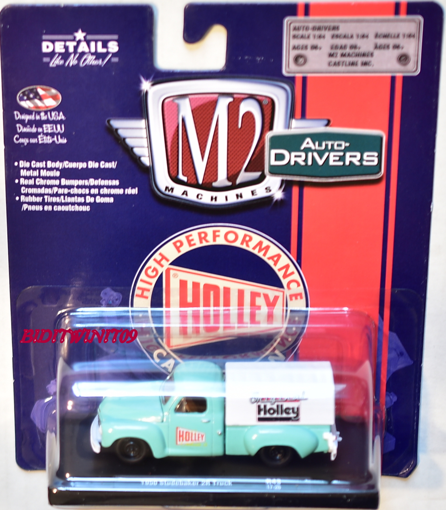 M2 MACHINES AUTO - DRIVERS 1950 STUDEBAKER 2R TRUCK LIGHT BLUE