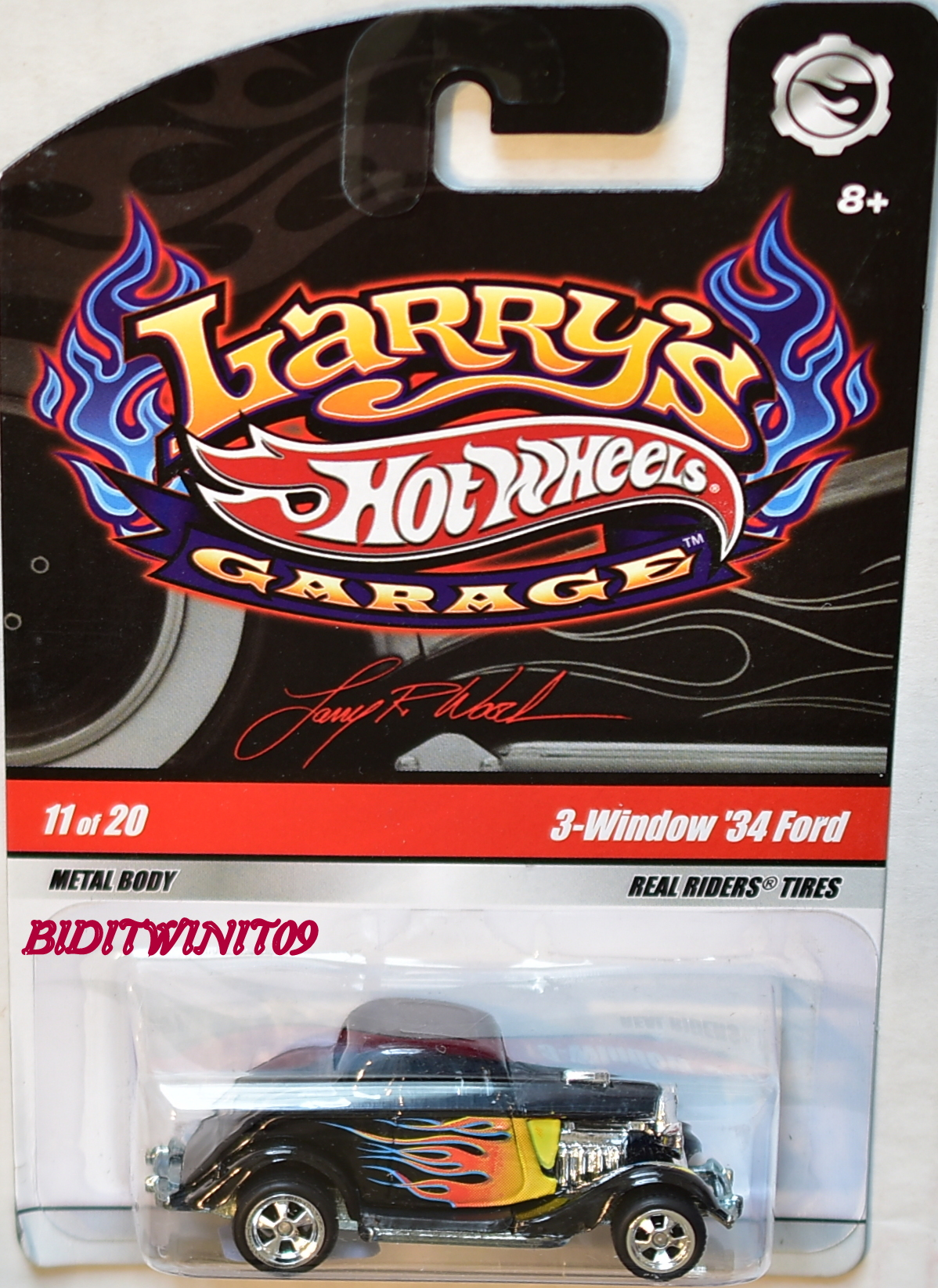 HOT WHEELS LARRY'S GARAGE #11/20 3-WINDOW '34 FORD