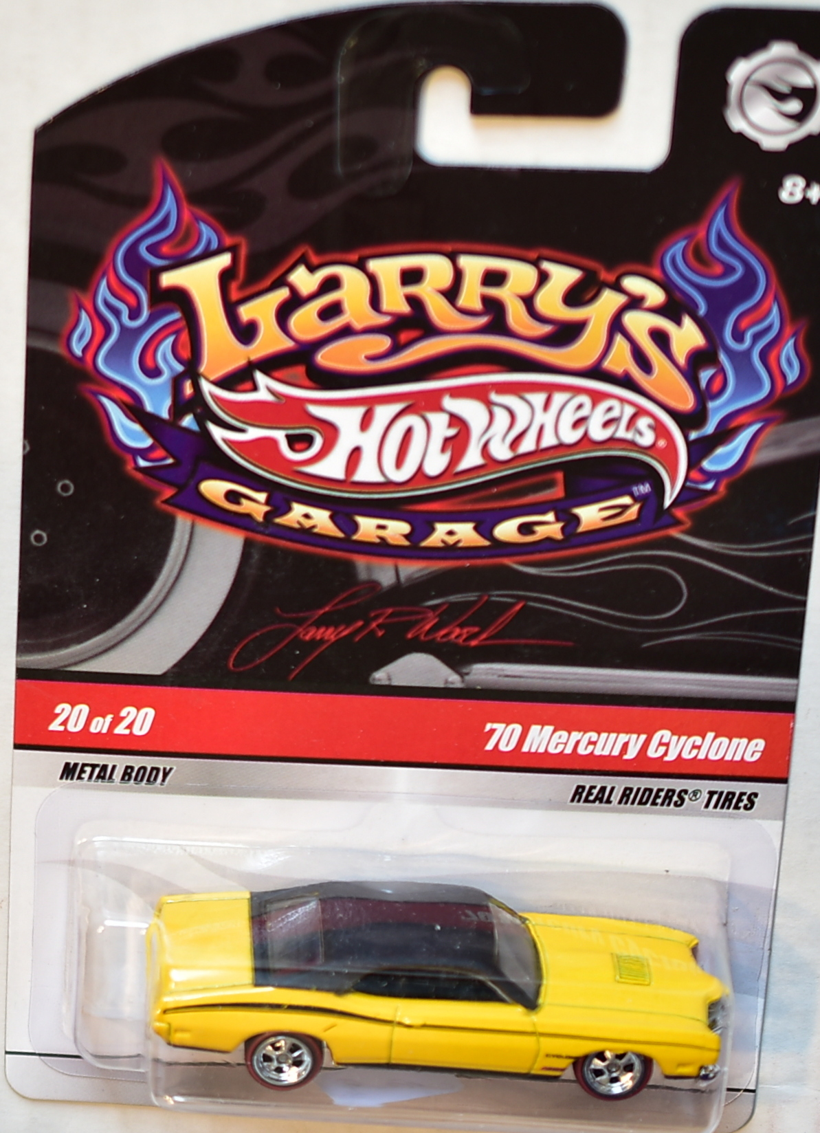 HOT WHEELS LARRY'S GARAGE #20/20 '70 MERCURY CYCLONE YELLOW E+
