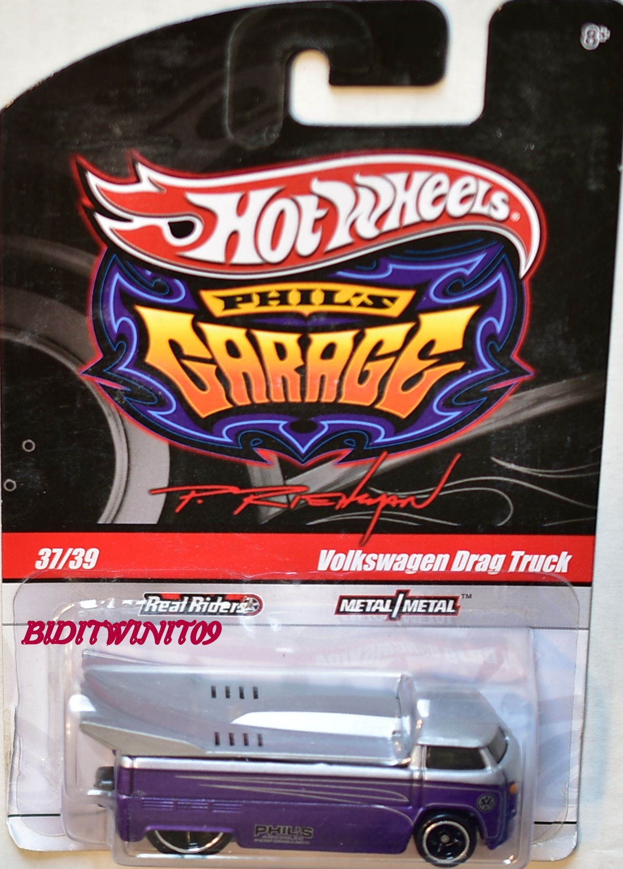 HOT WHEELS PHIL'S GARAGE #37/39 VOLKSWAGEN DRAG TRUCK PURPLE