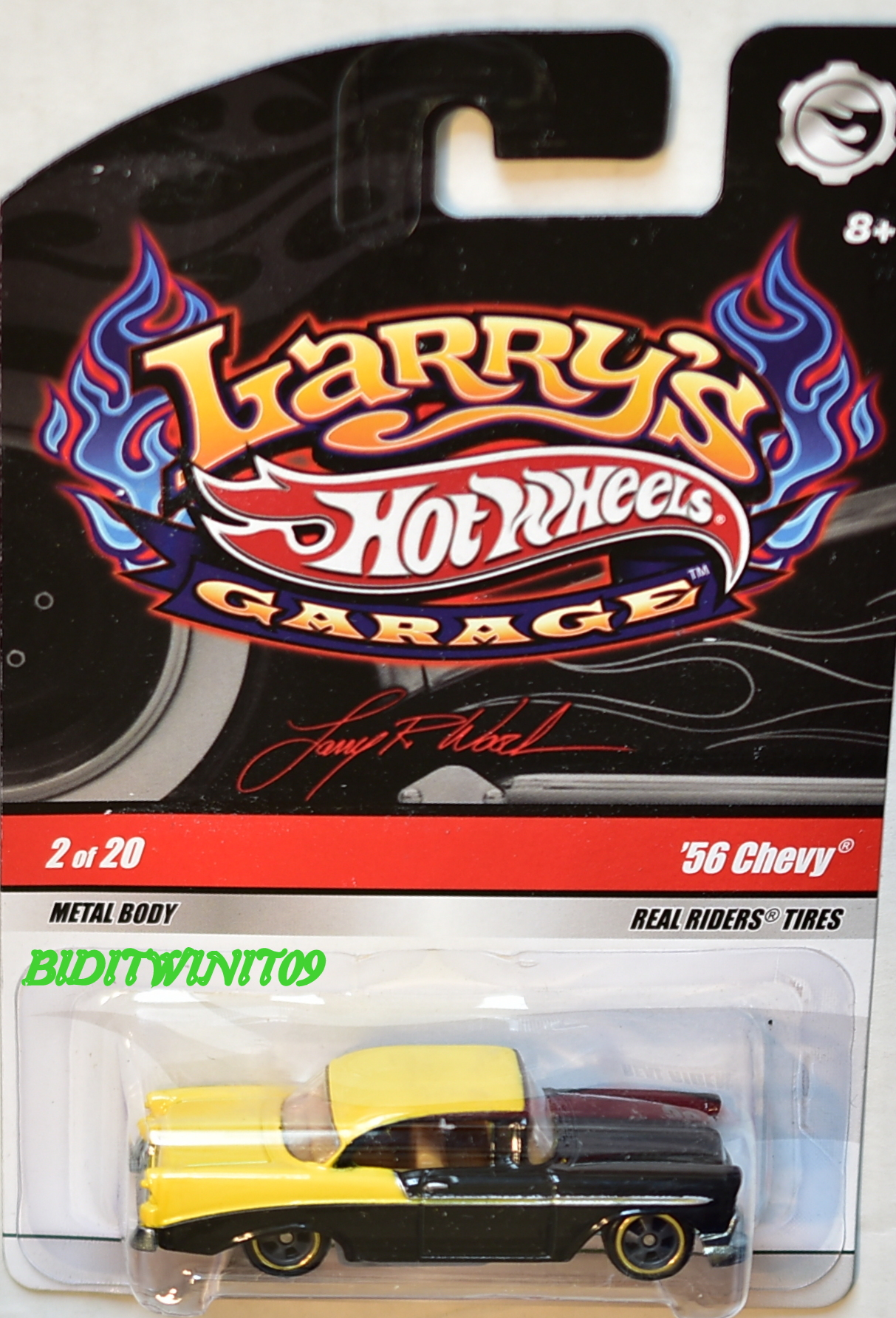 HOT WHEELS LARRY'S GARAGE '56 CHEVY #2/20