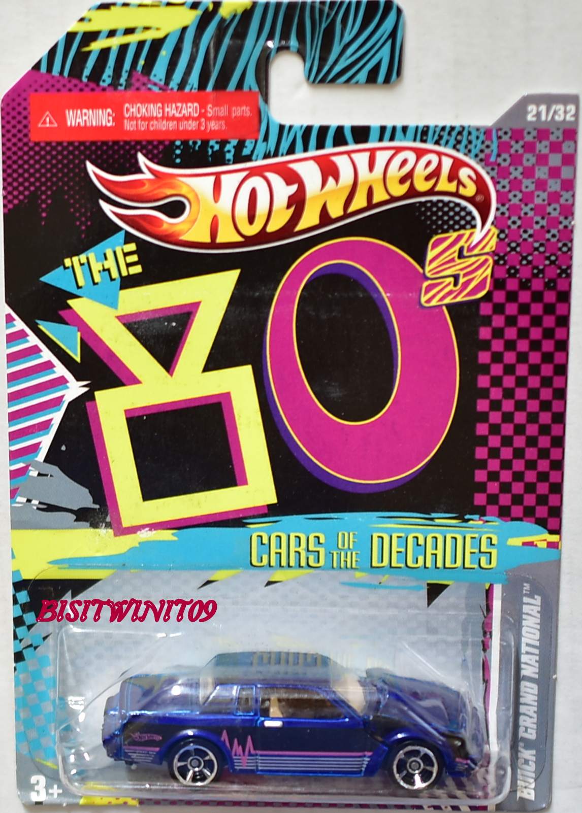 HOT WHEELS THE '80S CARS OF THE DECADES BUICK GRAND NATIONAL BLACK E+