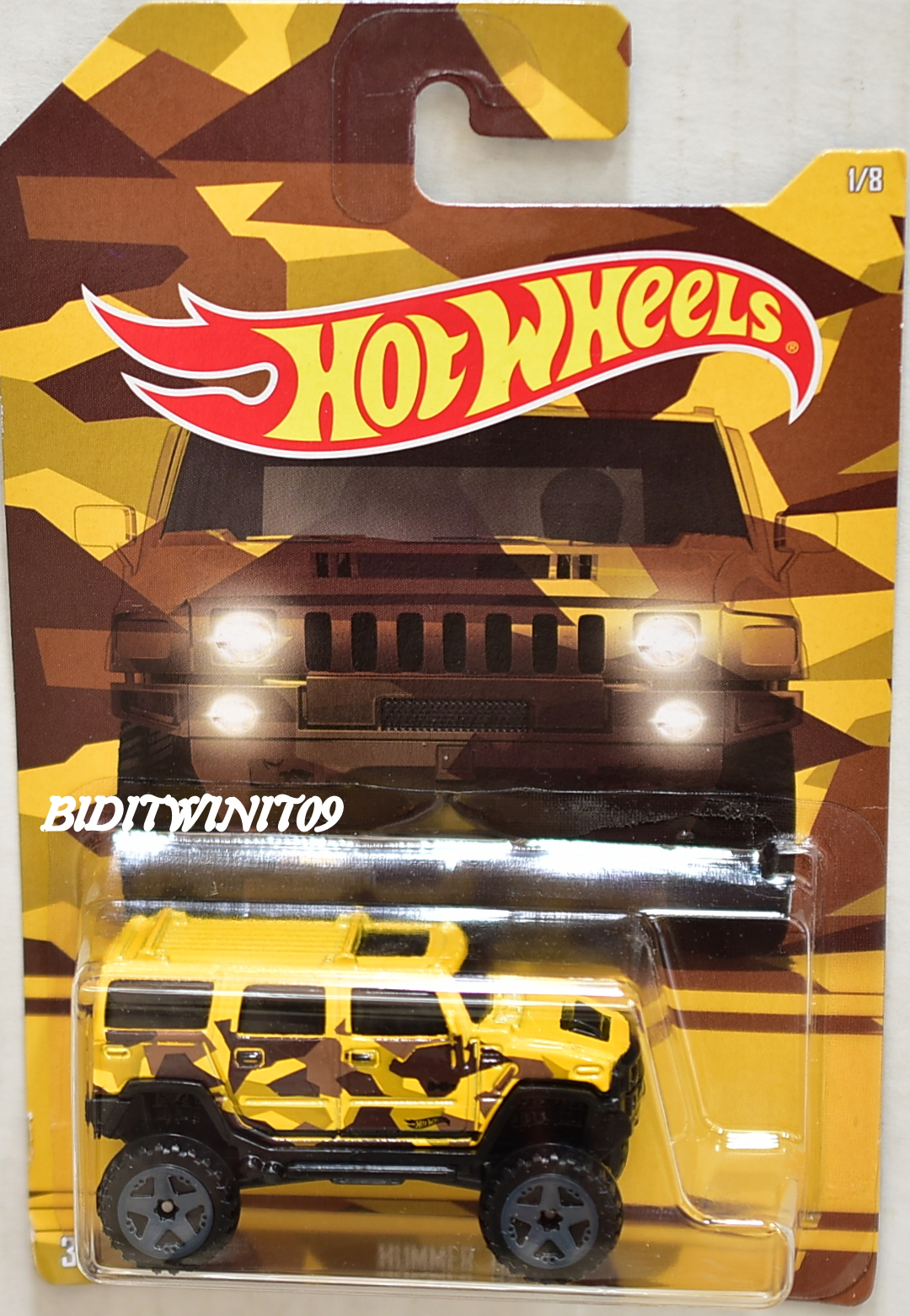 HOT WHEELS CAMOUFLAGE WALMART EXCLUSIVE HUMMER H2 #1/8