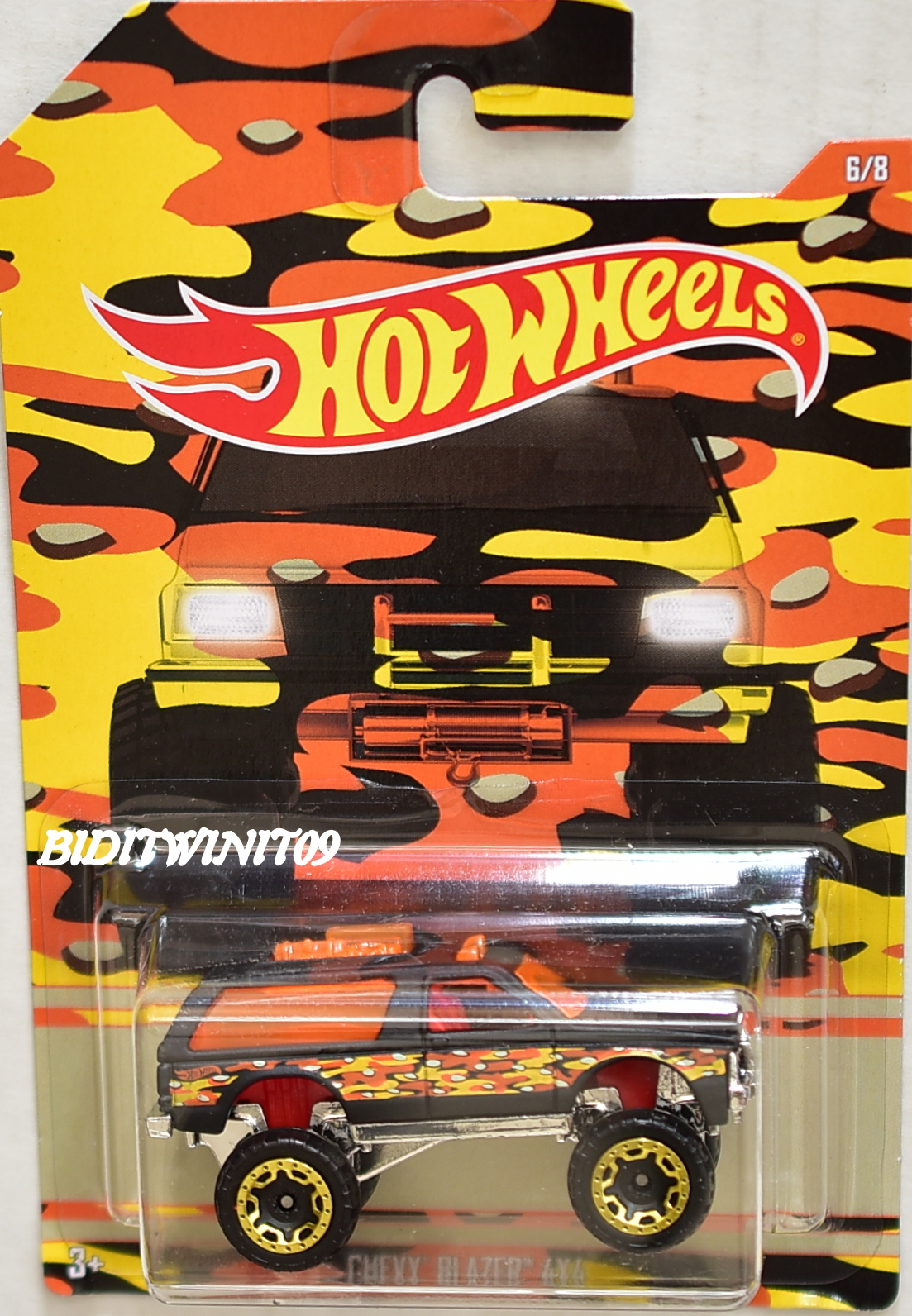 HOT WHEELS CAMOUFLAGE WALMART EXCLUSIVE CHEVY BLAZER 4X4 #6/8