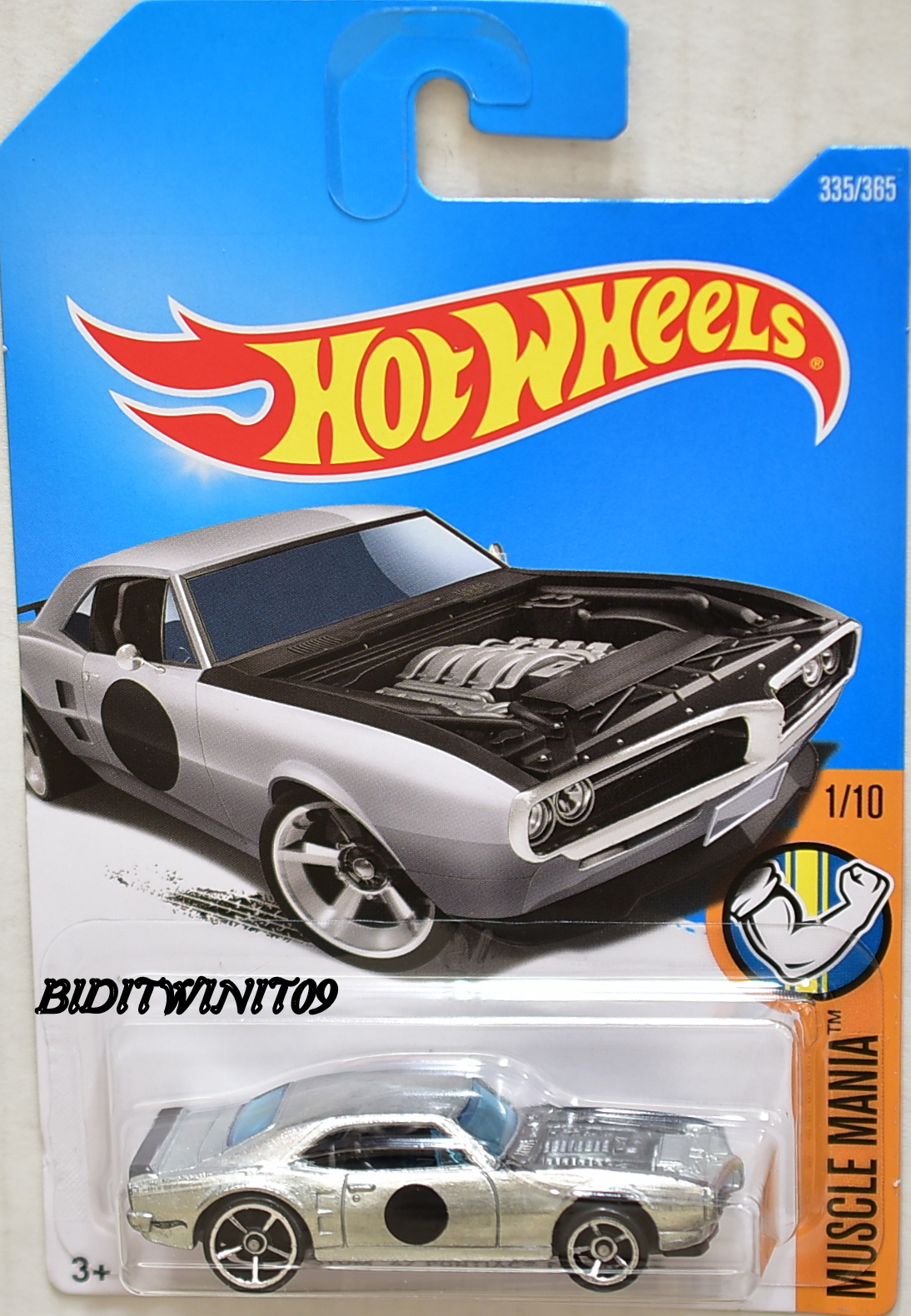 HOT WHEELS 2017 MUSCLE MANIA CUSTOM '67 PONTIAC FIREBIRD ZAMAC E+