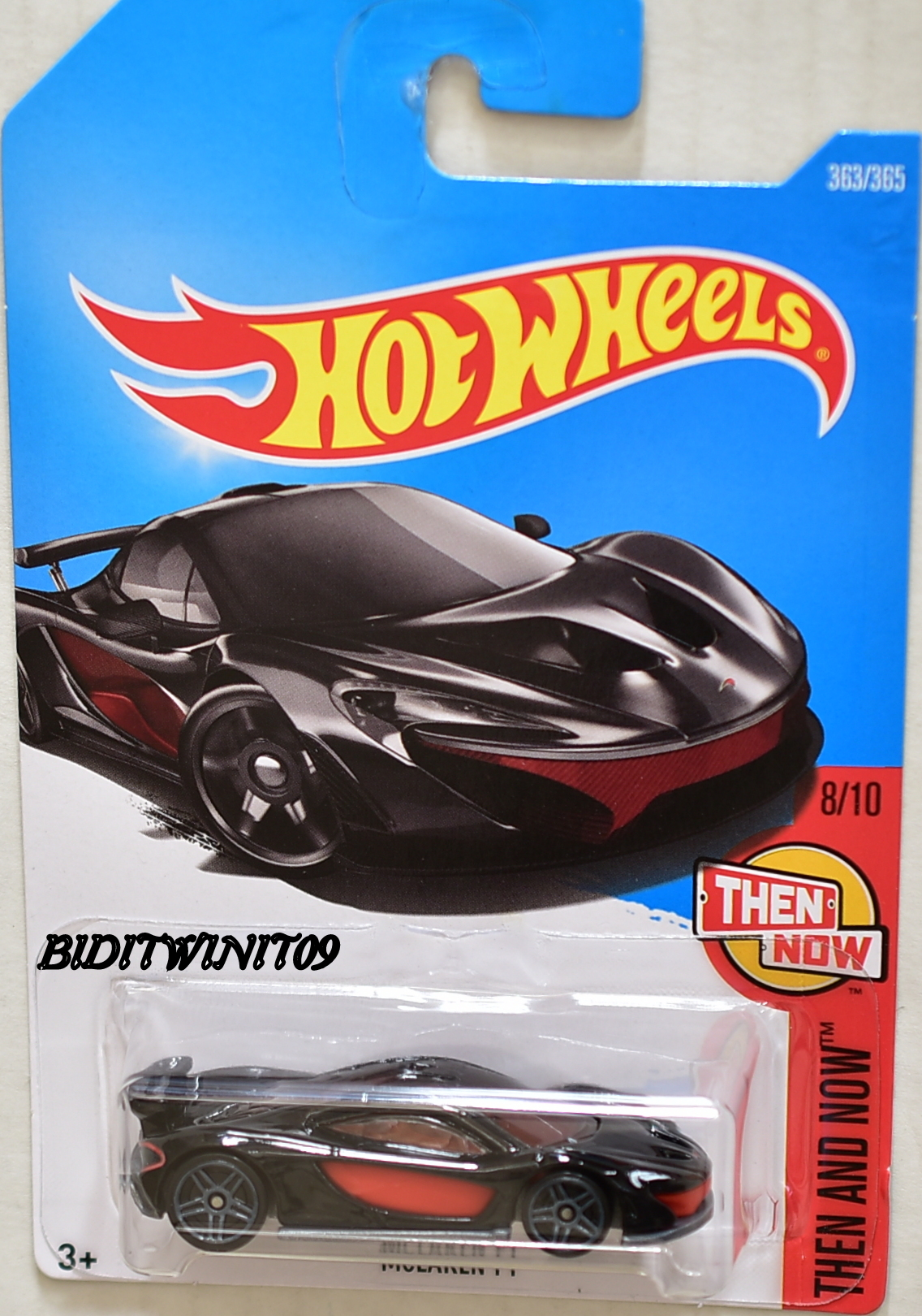 HOT WHEELS 2017 THEN AND NOW MCLAREN P1 #8/10 BLACK