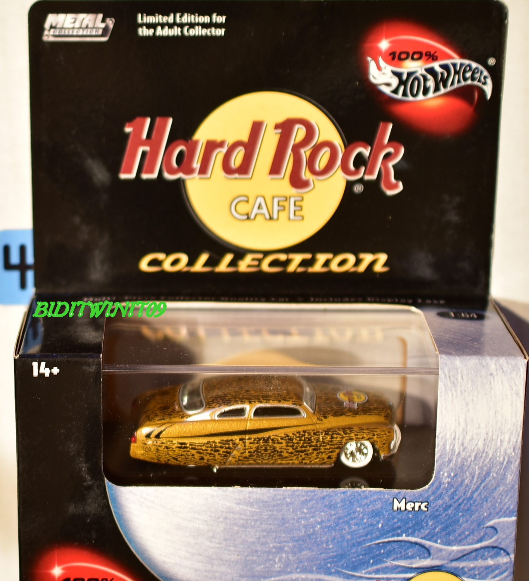 HOT WHEELS 100% HARD ROCK CAFE COLLECTION MERC LIMITED EDITION