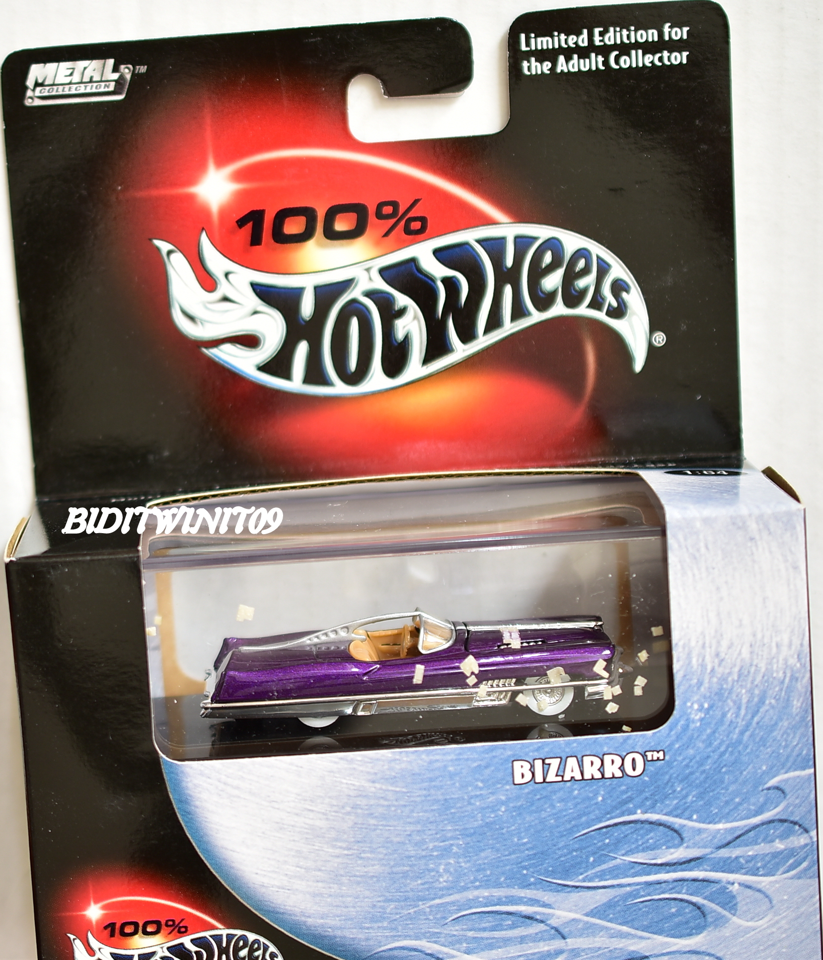 HOT WHEELS 100% BLACK BOX BIZARRO PURPLE LIMITED EDITION E+