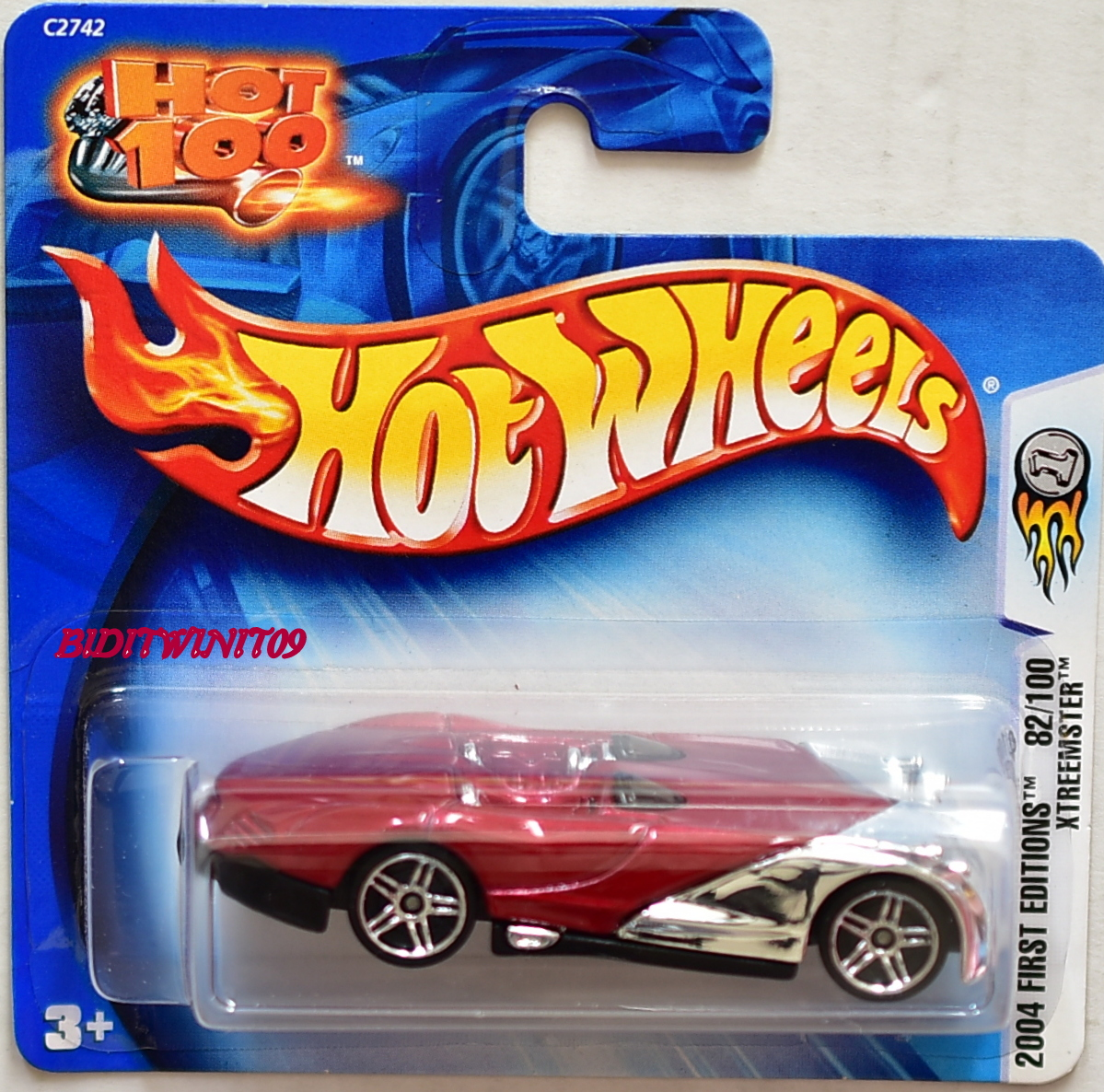 HOT WHEELS 2004 FIRST EDTITIONS XTREEMSTER SHORT CARD E+