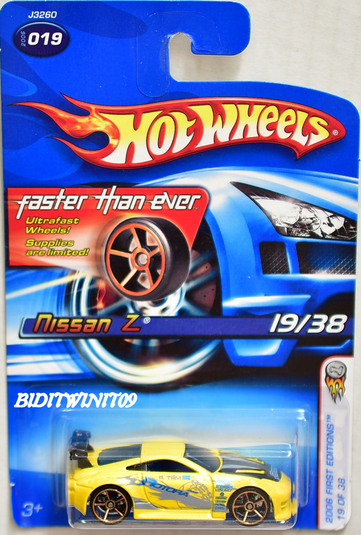 HOT WHEELS 2006 FIRST EDITONS FTE NISSAN Z #019 YELLOW