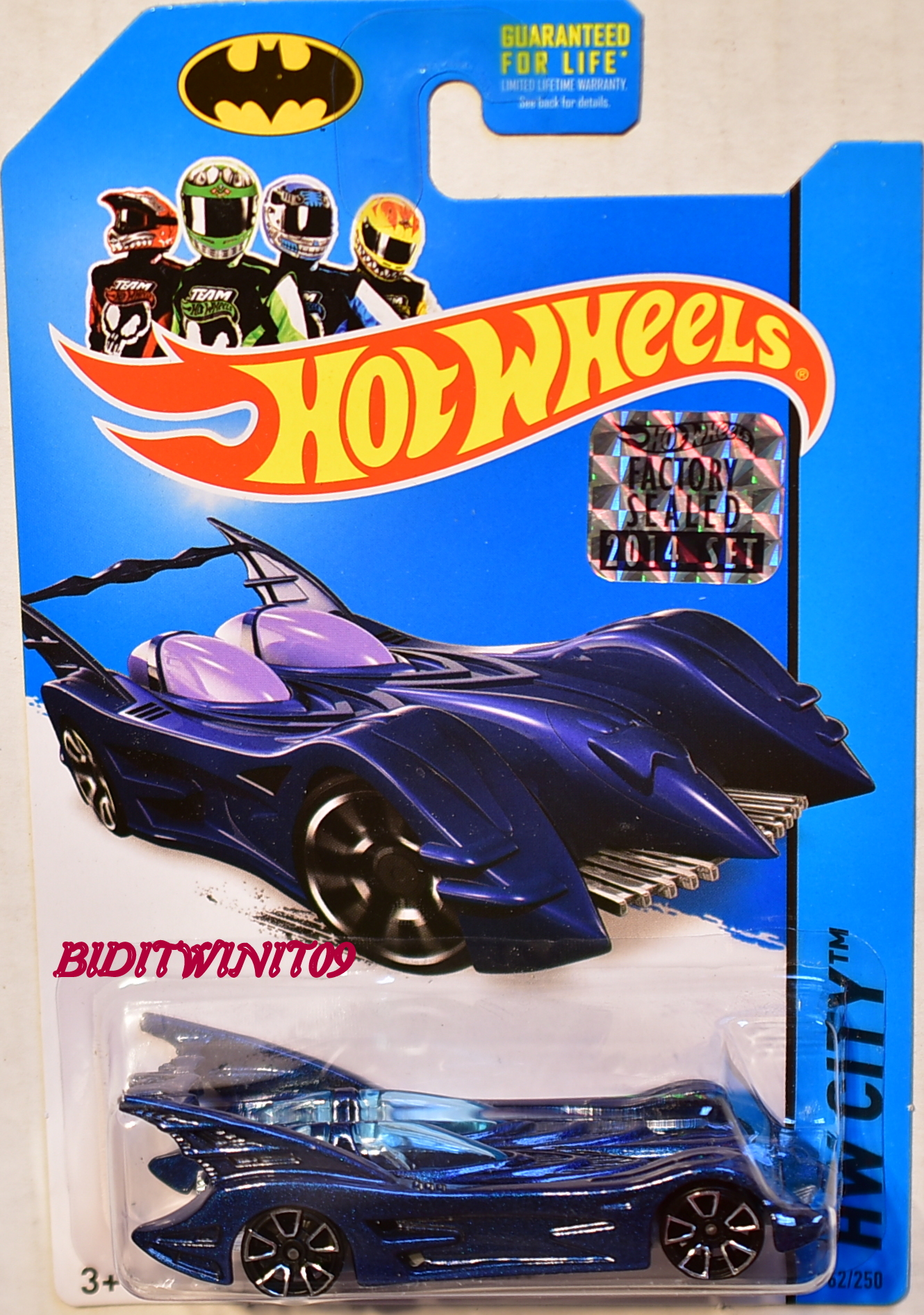 HOT WHEELS 2014 HW CITY BATMOBILE BLUE FACTORY SEALED