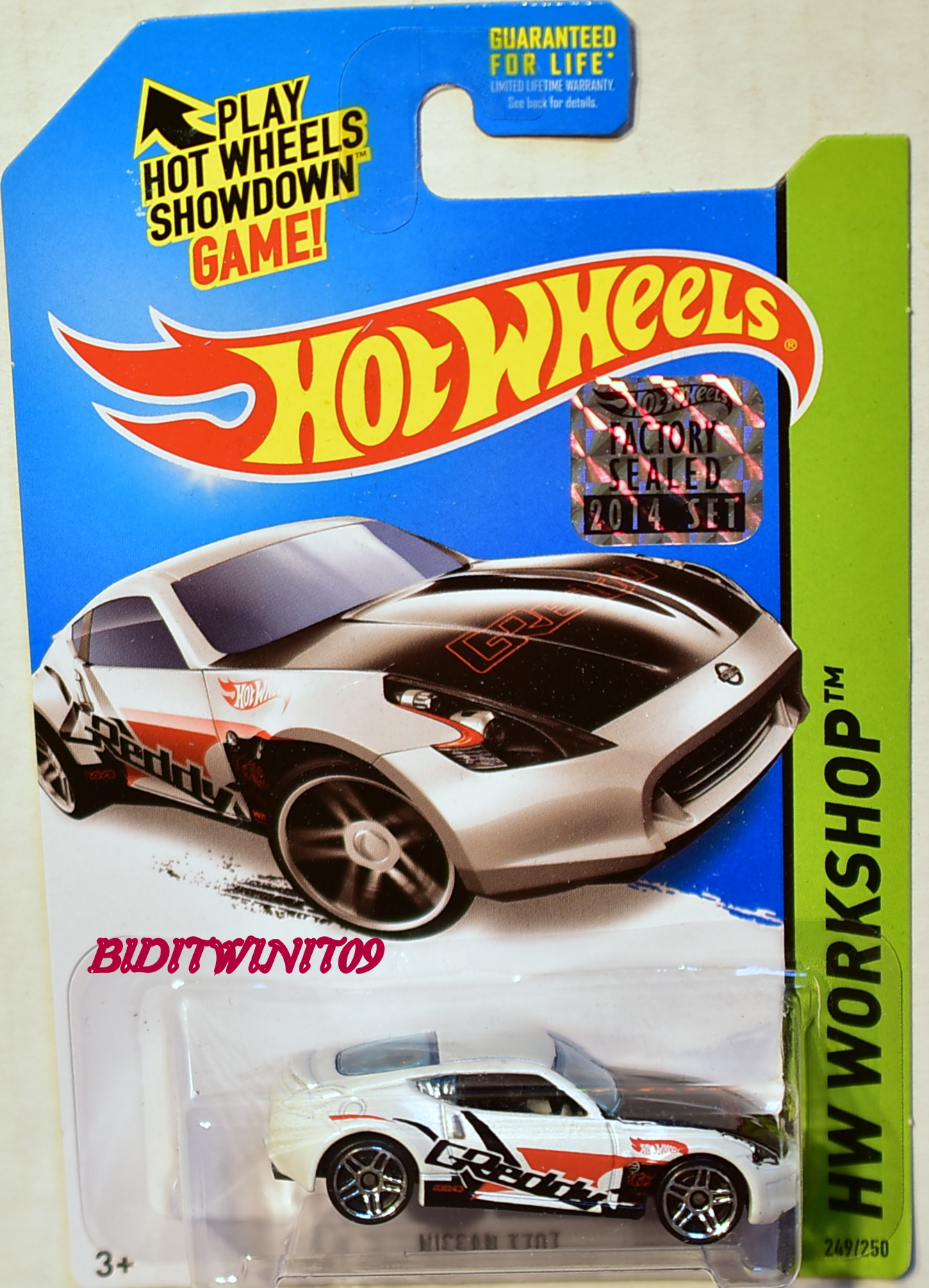 HOT WHEELS 2014 HW WORKSHOP NISSAN 370Z FACTORY SEALED