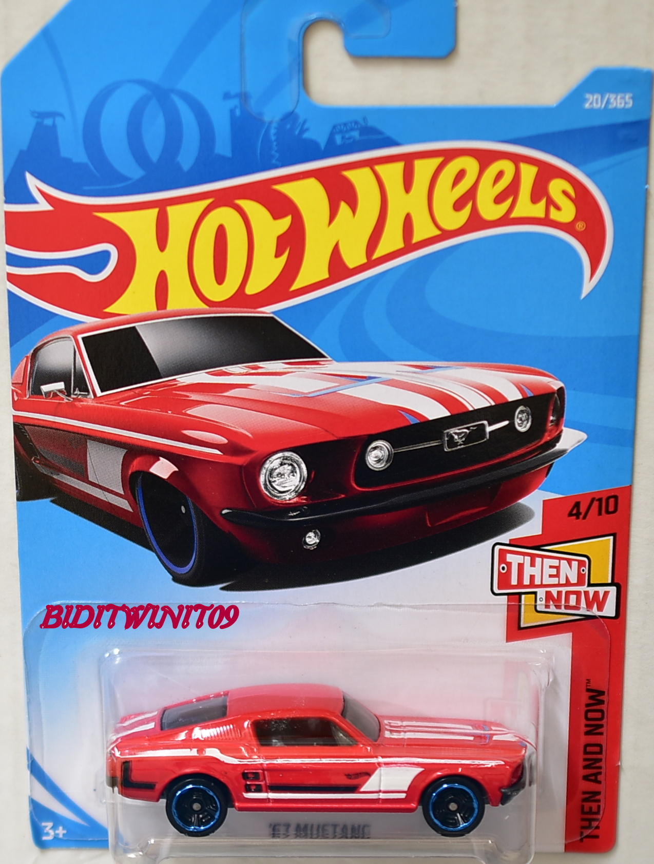 HOT WHEELS 2018 THEN AND NOW '67 MUSTANG RED E+