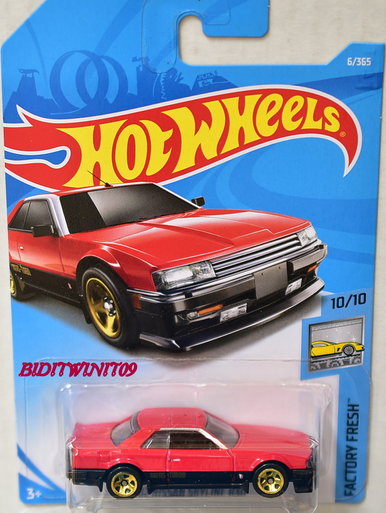 hot wheels 2018 factory fresh 82 nissan skyline r30 red 0003518. Black Bedroom Furniture Sets. Home Design Ideas