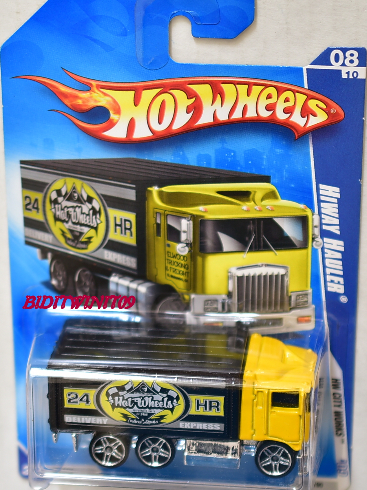 HOT WHEELS 2009 HW CITY WORKS HIWAY HAULER YELLOW