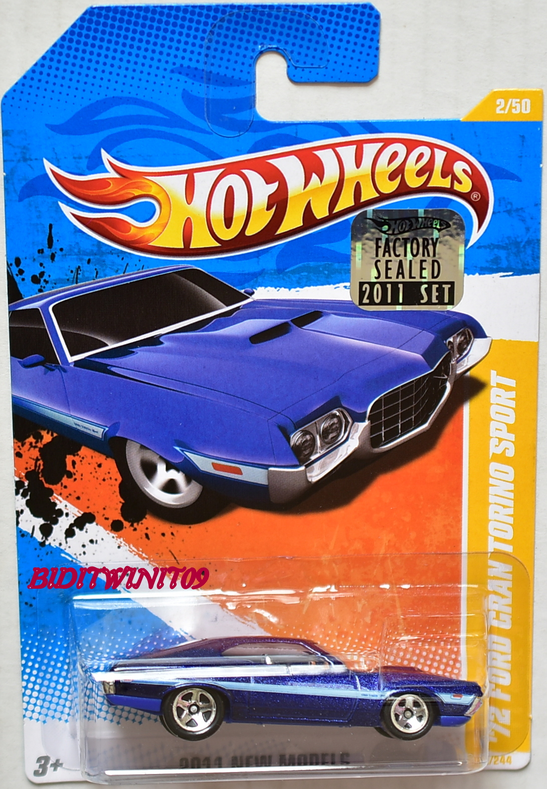 New Ford Gran Torino >> Hot Wheels 2011 New Models 72 Ford Gran Torino Sport Blue Factory