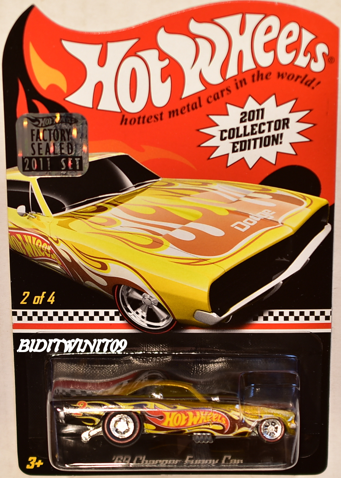Hot Wheels 2011 69 Dodge Charger Funny Car Toy R Us Exclusive